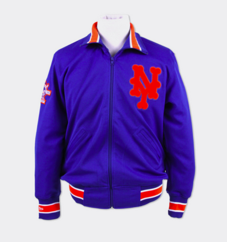 New York Mets 1986 Authentic BP Jacket Mitchell & Ness