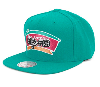 Mitchell & Ness Men's San Antonio Spurs Wool Solid Snapback Cap One Size Green
