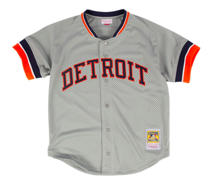 the latest 40adf 5ad16 Kirk Gibson Grey Mitchell & Ness Detroit Tigers Authentic BP Jersey