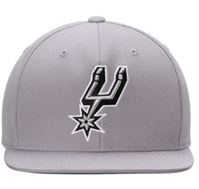 Mitchell & Ness San Anotonio Spurs Grey Snapback Solid