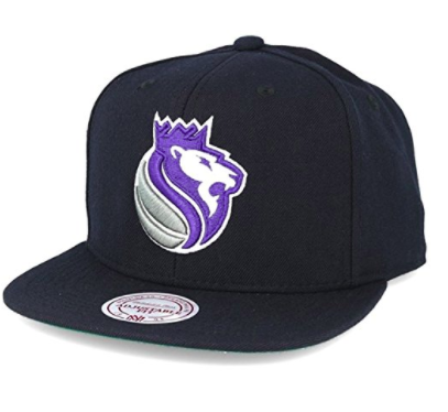 Mitchell & Ness Sacramento Kings Black Snapback Solid