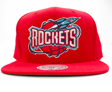Mitchell & Ness Houston Rockets Red Snapback Solid