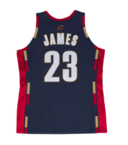 innovative design 51f46 c2575 Lebron James Cleveland Cavaliers Mitchell & Ness Authentic 2008 Navy NBA  Jersey