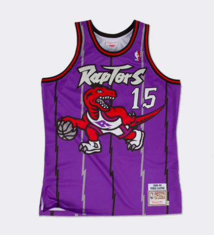 Mitchell & Ness The Vince Carter 1998 1999 Authentic Jersey Toronto Raptors Purple