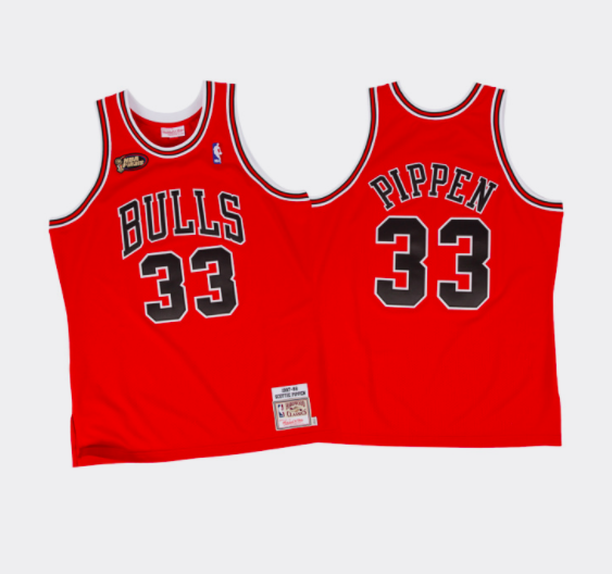 78622599bd3 Mitchell & Ness Scottie Pippen 1997-98 Authentic Jersey Chicago Bulls Red