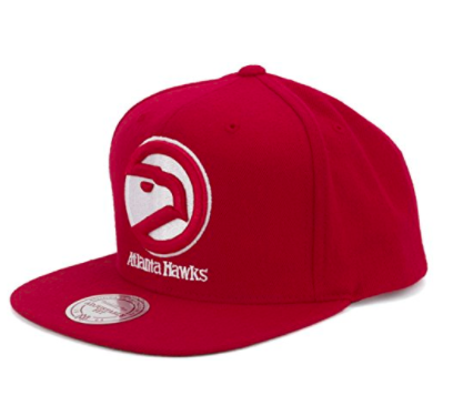 Mitchell & Ness Atlanta Hawks Wool Snapback Red