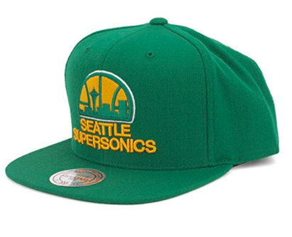 Mitchell & Ness Seattle Supersonics Snapback in Green