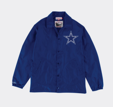 Mitchell & Ness Dallas Cowboys Coaches Jacket in Navy