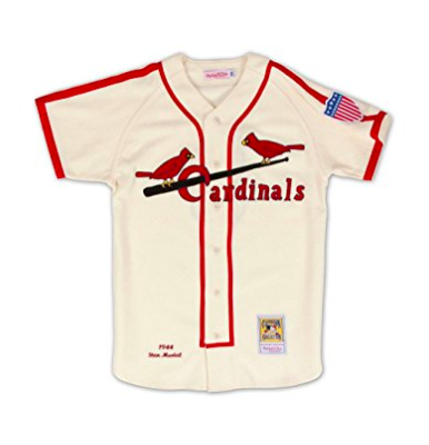 low priced c736f beb7b Stan Musial St. Louis Cardinals Mitchell & Ness Authentic 1944 Button Up  Jersey