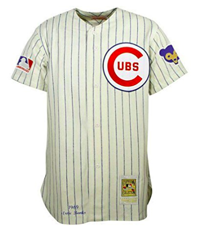 best authentic 2da9f aeaed Mitchell & Ness Ernie Banks Cubs 1969 Home Authentic Jersey