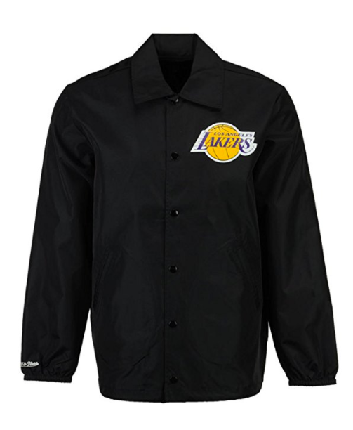Mitchell & Ness Los Angeles Lakers Coaches Jacket Black