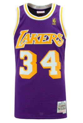 Los Angeles Lakers 1996-97 Shaquille O Neal Mitchell   Ness NBA Swingman  Jersey ecb79f932