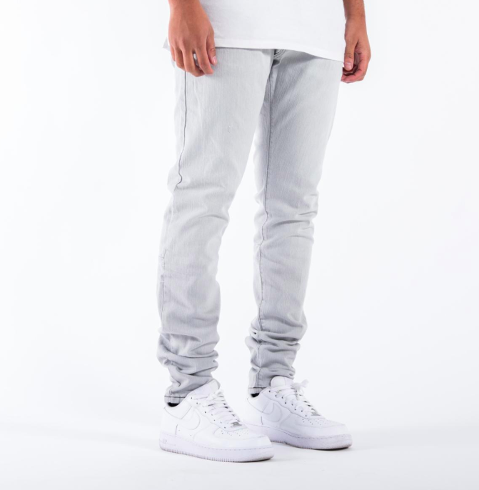 Syndicate Tailored 1975 Denim Jeans in Light Grey