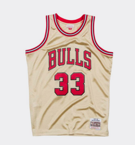 Mitchell & Ness Scottie Pippen Gold Swingman Jersey Chicago Bulls