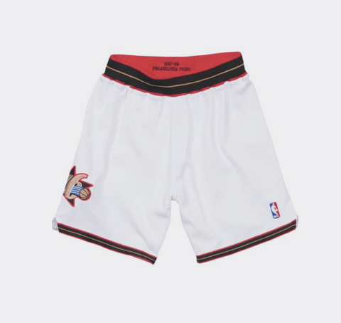 Mitchell & Ness Authentic Shorts Philadelphia 76ers 1997-98 in White