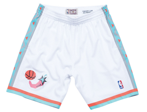 Mitchell & Ness 1996 All Star West Swingman Shorts in White