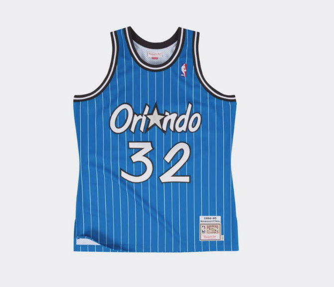 Mitchell & Ness Shaquille O'Neal 1994-95 Authentic Jersey Orlando Magic in Blue