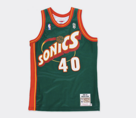 ce75b7773c34 Mitchell   Ness Shawn Kemp 1995-96 Authentic Jersey Seattle SuperSonics