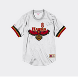 Mitchell Ness Steve Smith Name & Number Mesh Crewneck Atlanta Hawks