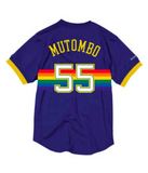 Mitchell Ness Dikembe Mutombo Name & Number Mesh Crewneck Denver Nuggets