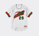 Mitchell Ness Gary Payton Name & Number Mesh Crewneck Seattle Supersonics