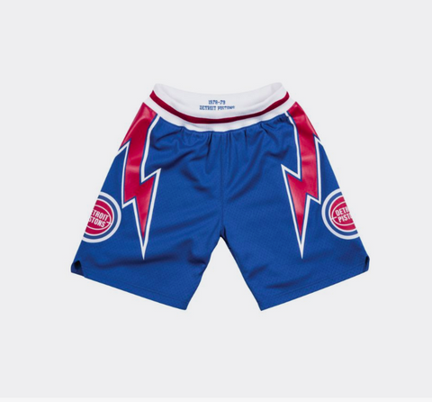 a9cf8040058 Mitchell   Ness 1978-79 Detroit Pistons Road Authentic Shorts