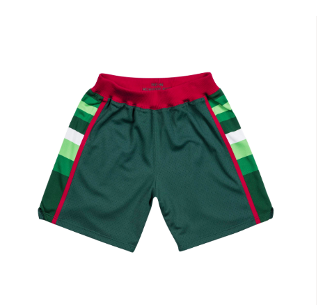 Mitchell & Ness 1983-84 Road Authentic Shorts Milwaukee Bucks