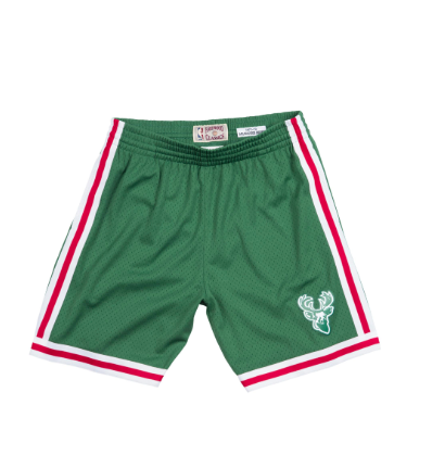 Mitchell & Ness 1971-72 Road Swingman Shorts Milwaukee Bucks