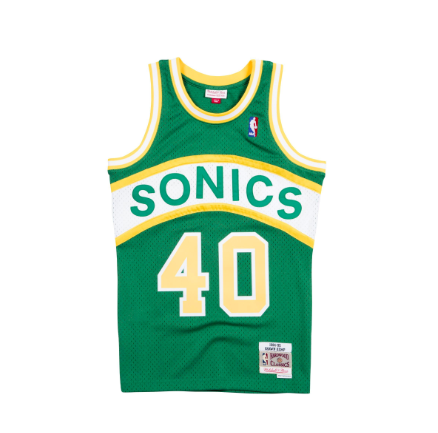 912172a6b503 Mitchell   Ness Shawn Kemp 1994-95 Road Swingman Jersey Seattle Supersonics