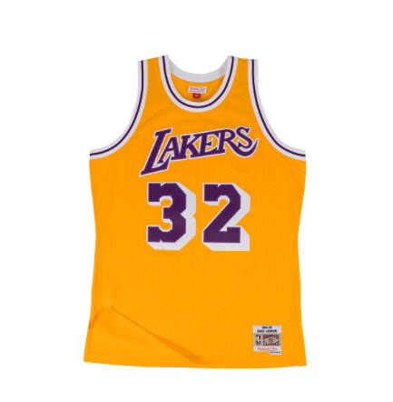 2aa0c6b8a3d Mitchell   Ness LA Lakers Magic Johnson 1984-85 Swingman Jersey
