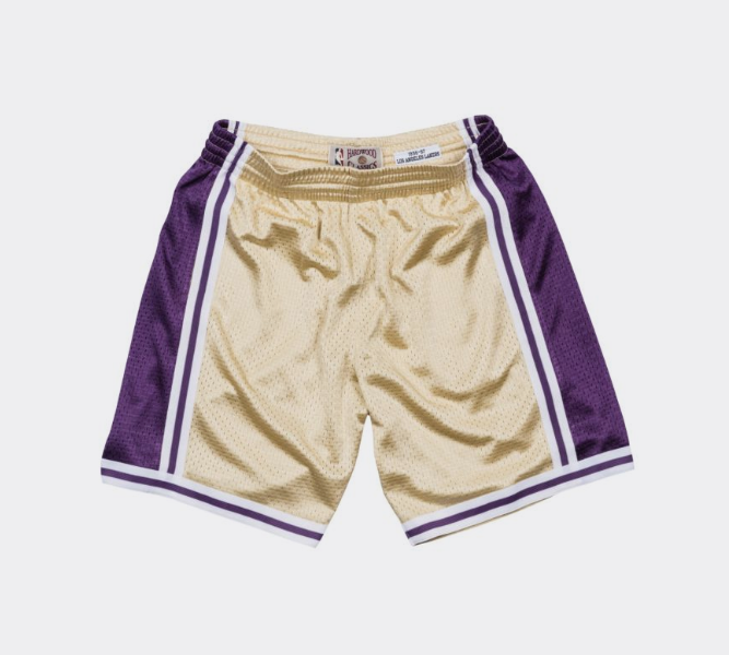 c7f6000e6399 Mitchell   Ness Gold Swingman Shorts Los Angeles Lakers