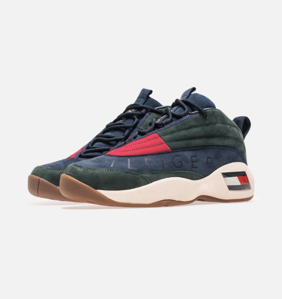 KITH X TOMMY HILFIGER Lux Basketball Sneaker - Forest/Navy