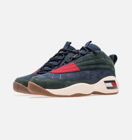 abae2821b385 KITH X TOMMY HILFIGER Lux Basketball Sneaker - Forest Navy
