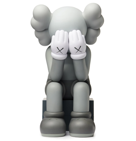 KAWS Passing Through Open Edition Vinyl Figure - Grey