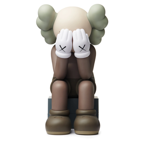 KAWS Passing Through Open Edition Vinyl Figure - Brown