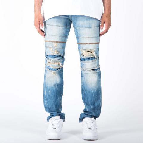 "The Reform ""1855"" Slim Denim Jeans in Indigo Blue"