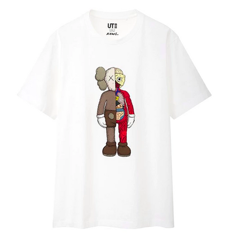 KAWS x Uniqlo Flayed Tee White