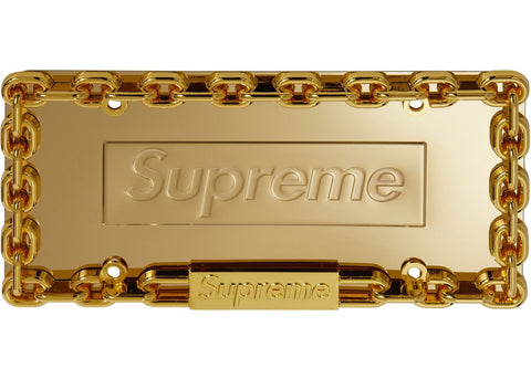 Supreme Chain License Plate Frame in Gold