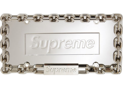 Supreme Chain License Plate Frame in Silver