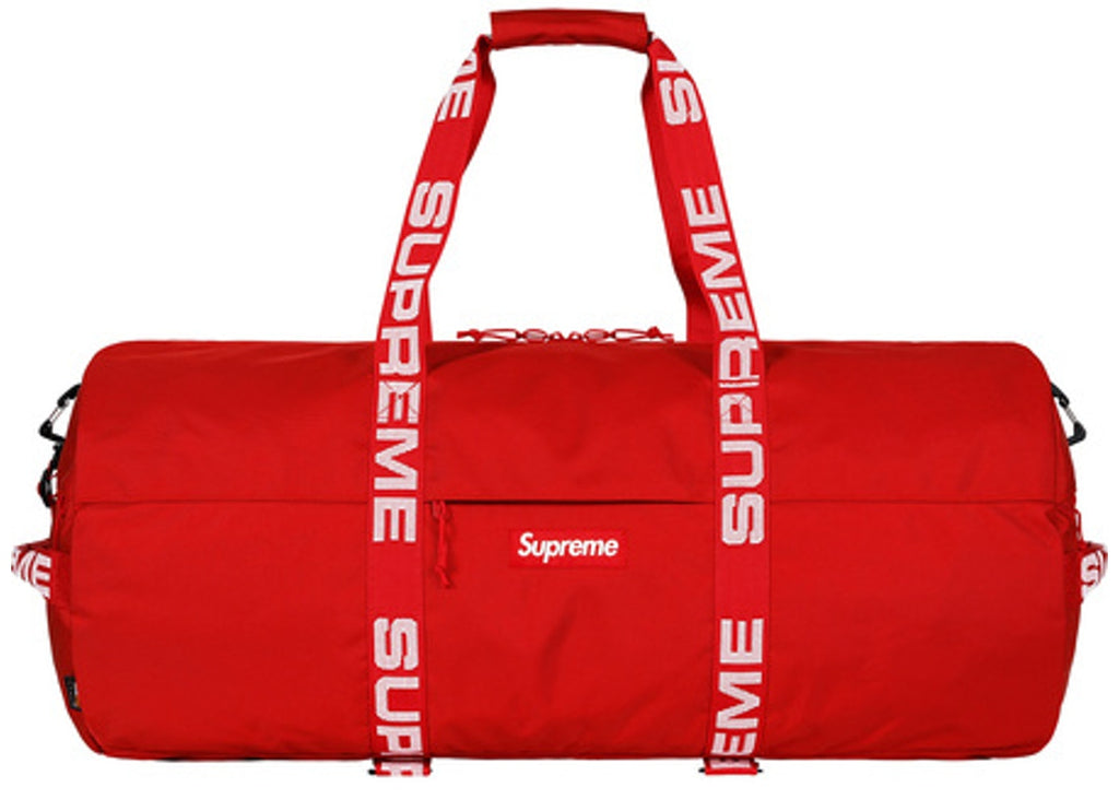 SS18 Supreme Large Duffle Bag - Red