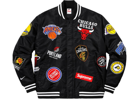 Supreme Nike NBA Teams Warm-Up Jacket - Black