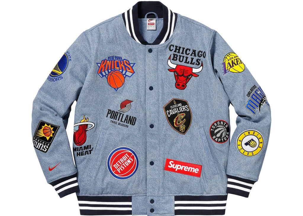 Supreme Nike NBA Teams Warm-Up Jacket - Denim