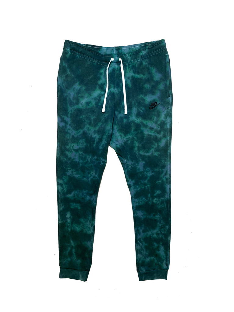 "Nike X Jeffersons Custom Tonal Tie Dye Washed Jogger Sweatpant ""TEAL"""