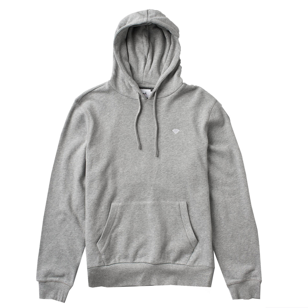 Diamond Pavilion Terry Hoodie In Heather Grey