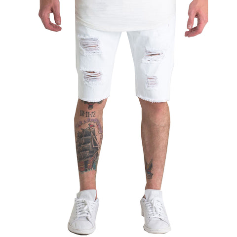 Crysp Denim Treasures Shorts In White
