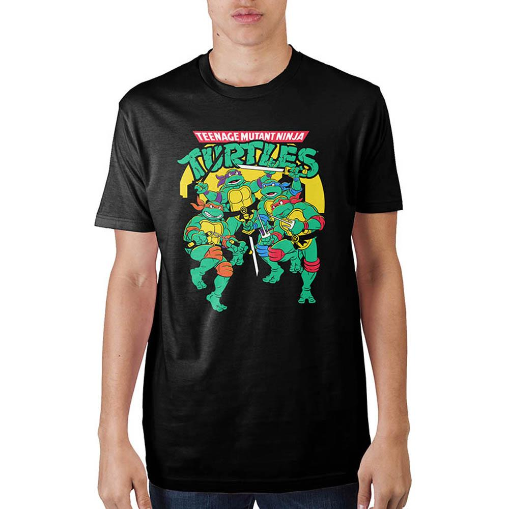 Mens Classic Turtle Art On Bla T-Shirt
