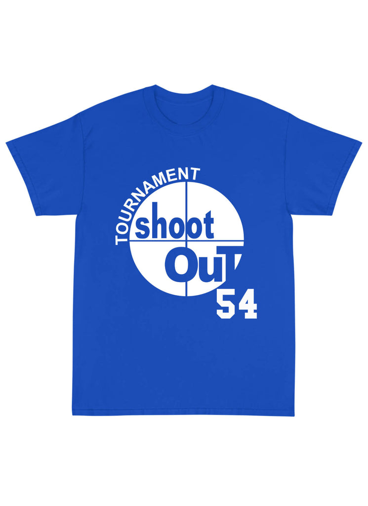 "SHOOT OUT ""WATSON"" Name & Number Tee Shirt in Royal Blue"