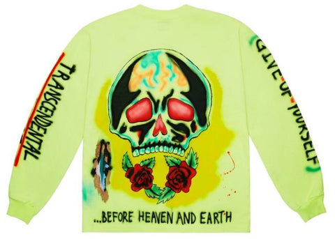 Yeezy Wes Lang Skeleton L/S Tee Frozen Yellow