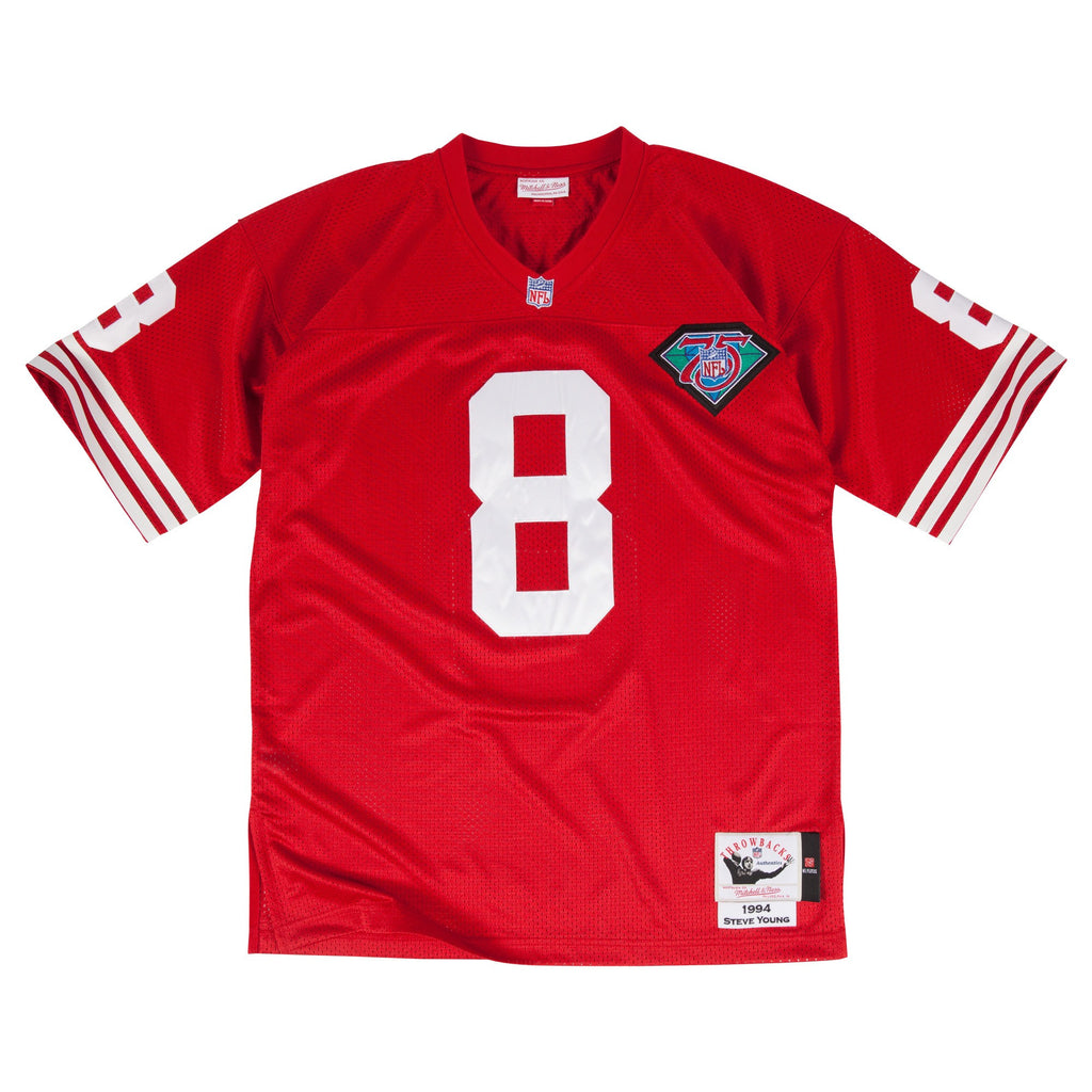Mitchell & Ness Steve Young 1994 Authentic Jersey San Francisco 49ers In Scarlet Red