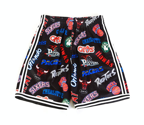 Mitchell & Ness All Over Eastern Shorts in Black